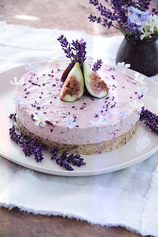 raw fig cherry lavender and honey cake ascension kitchen