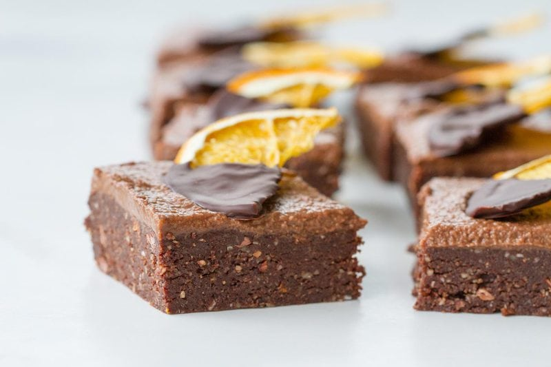 The Best Raw Brownies - Chocolate and Orange