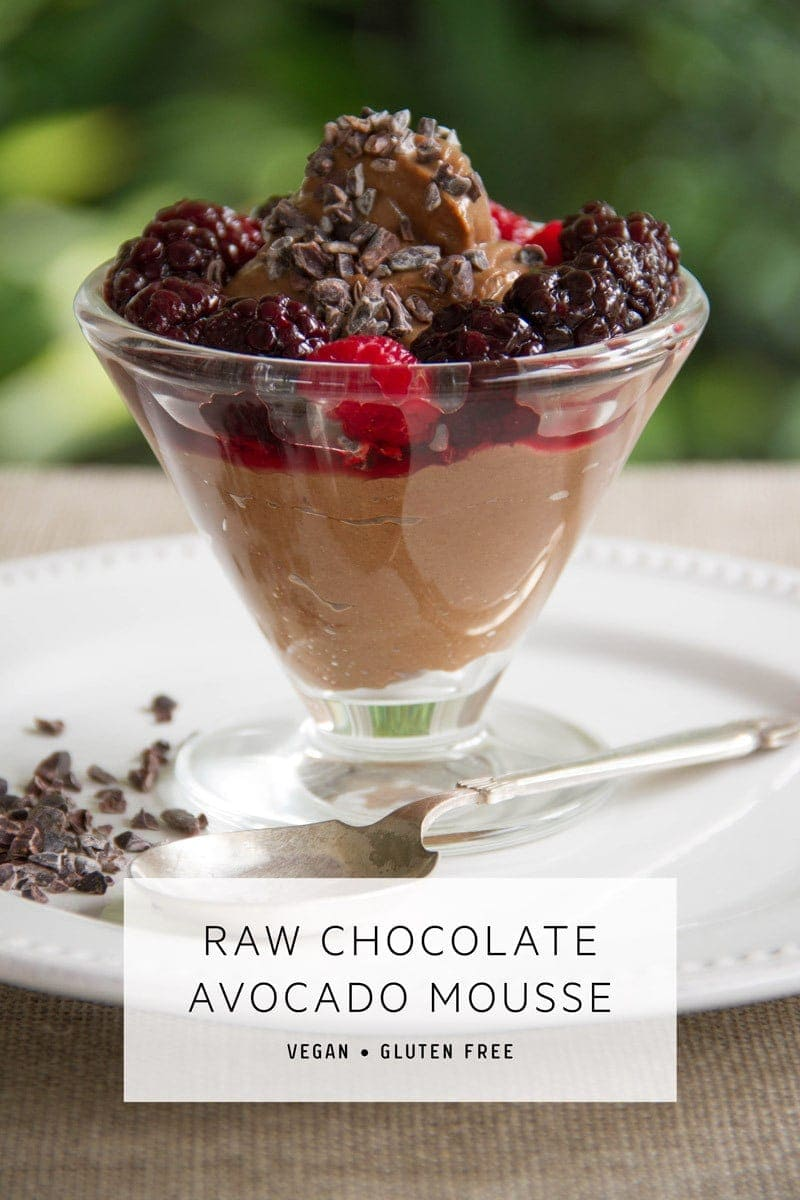 Chocolate Avocado Mousse – raw and vegan and whipped up in five minutes flat. #chocolateavocadomousse #chocolateavocadomoussehealthy #chocolateavocadomoussevegan #chocolateavocadomousseeasy #chocolateavocadomoussepaleo #chocolateavocadomoussedark #chocolateavocadomousserecipe #avocadomousse #veganchocolatemousse #AscensionKitchen // Pin to your own inspiration board! //