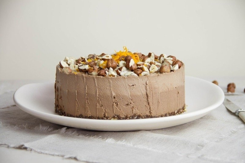 Raw Chocolate Hazelnut Orange Cake