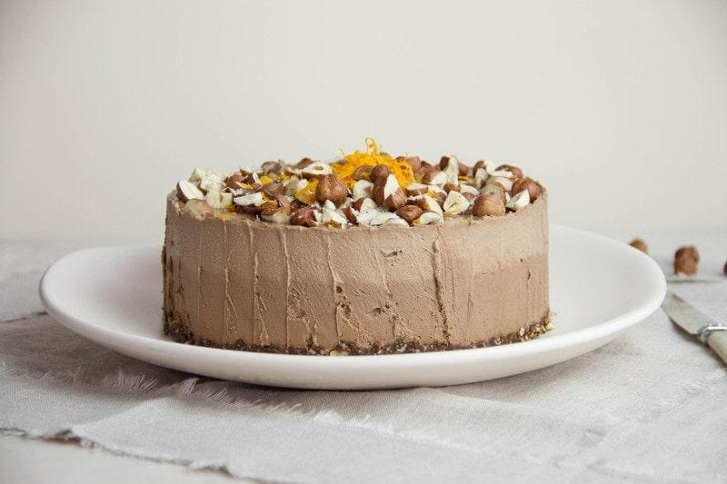 Raw Chocolate Hazelnut Orange Cake