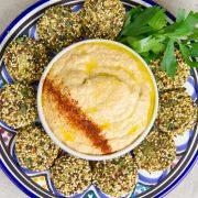 Skinny Falafel and Zucchini Hummus