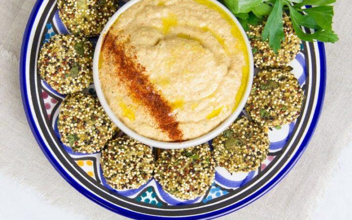 Raw Falafel and Zucchini Hummus