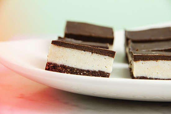 Raw Chocolate Peppermint Slice