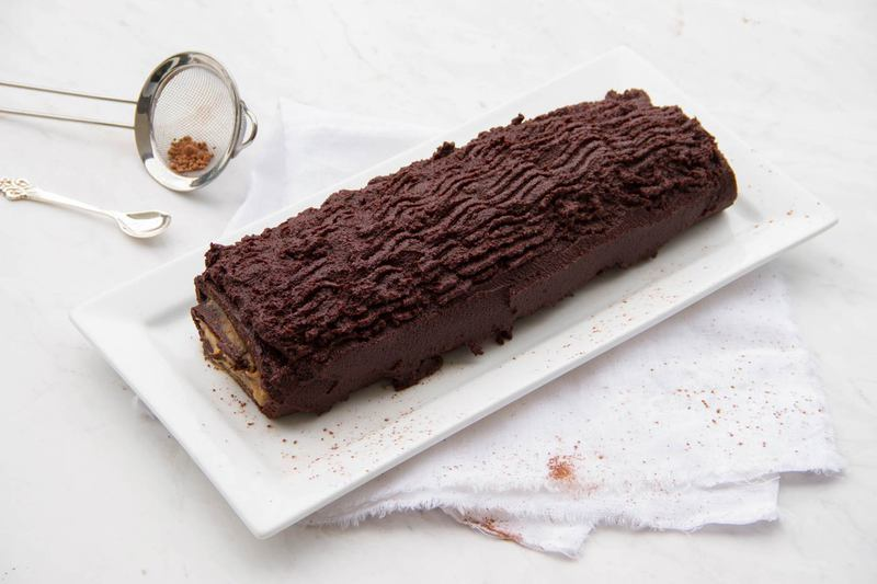 Raw Chocolate Log