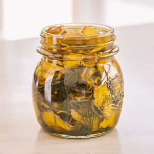 Rosemary and ginger infused oil