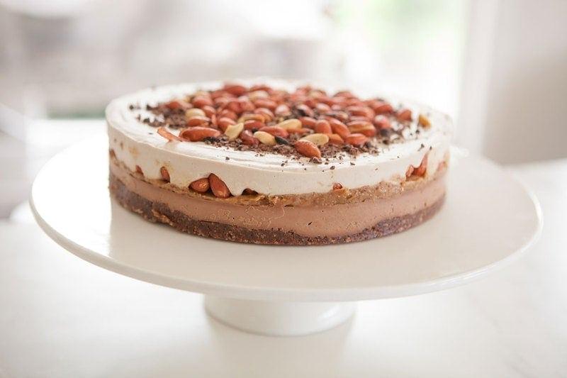 Raw Snicker's Cake