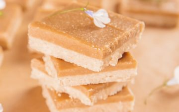 Stack of homemade ginger slice