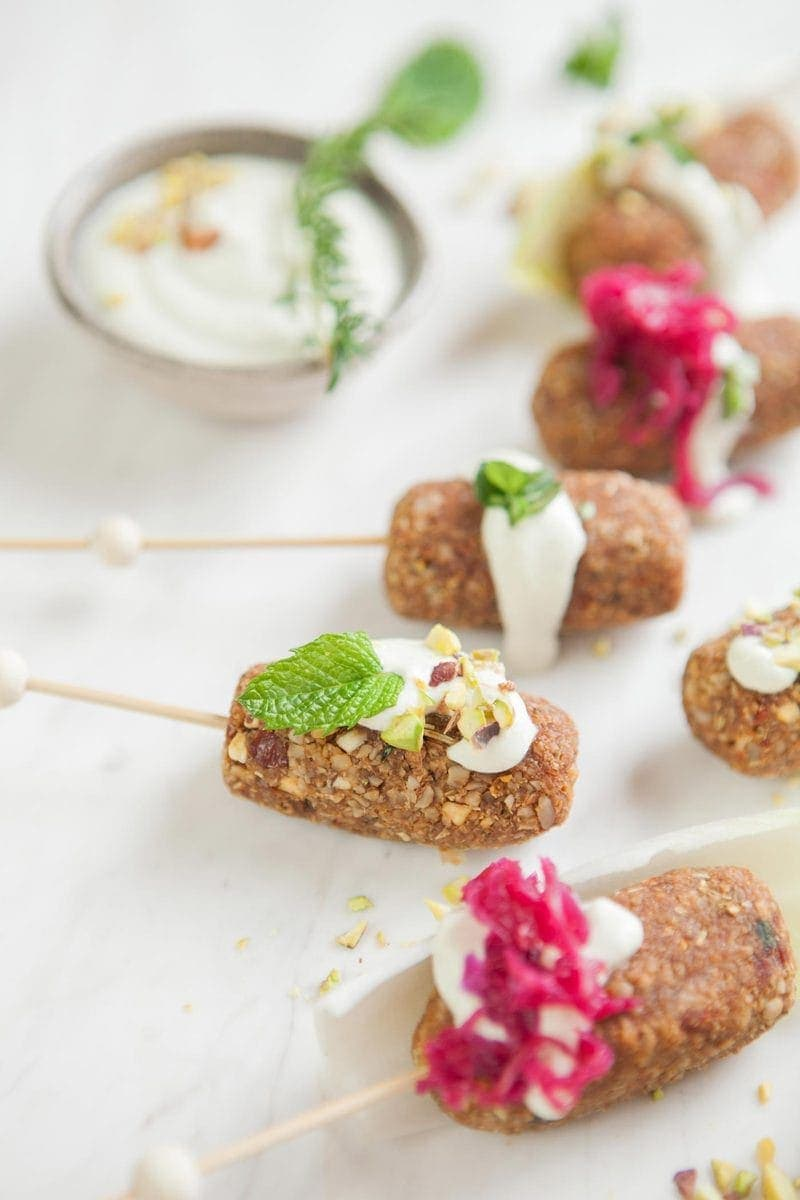 Raw Vegan Kofta with Minted Yoghurt
