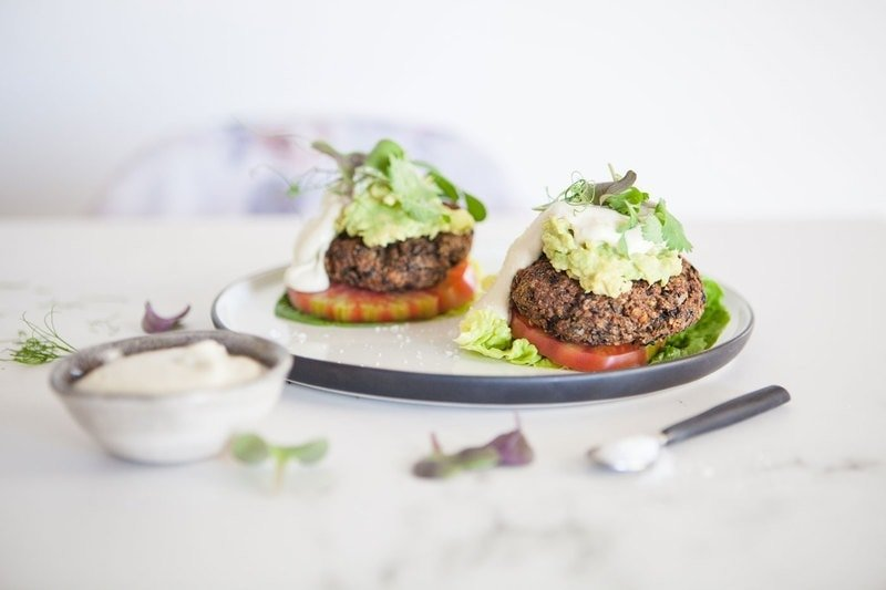 Sprouted Vegan Black Bean Burgers