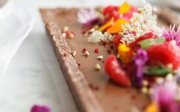 Raw Chocolate Raspberry tart