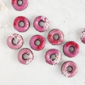 Raw Red Velvet Doughnuts - Vegan, Gluten Free