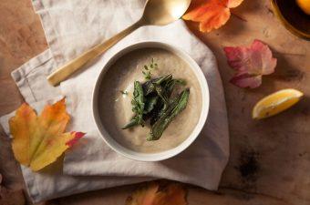 Roasted Sunchoke and Sage Soup