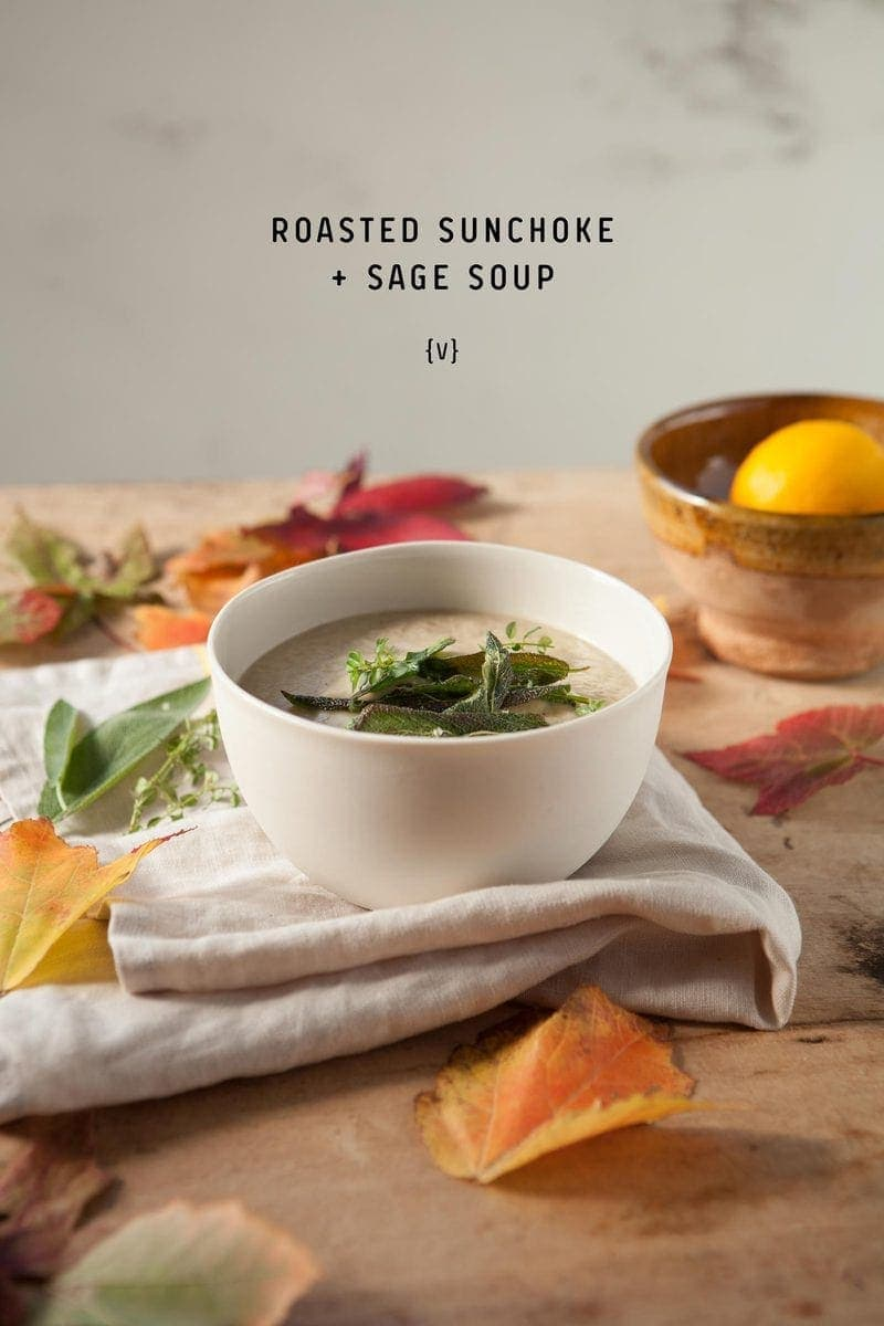 Roasted Sunchoke and Sage Soup