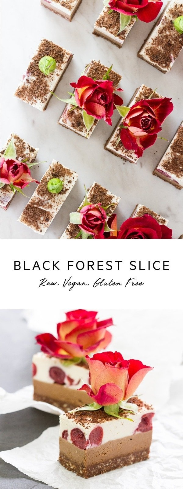 Raw Black Forest Slice. A light raw vegan dessert. #vegandessert #rawslice #rawdessert #blackforest #AscensionKitchen