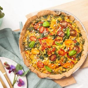 Gluten Free Sun-Dried Tomato Spinach Quiche