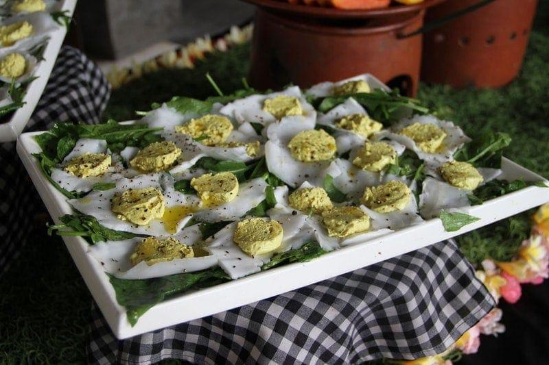 Raw Eggs Benedict