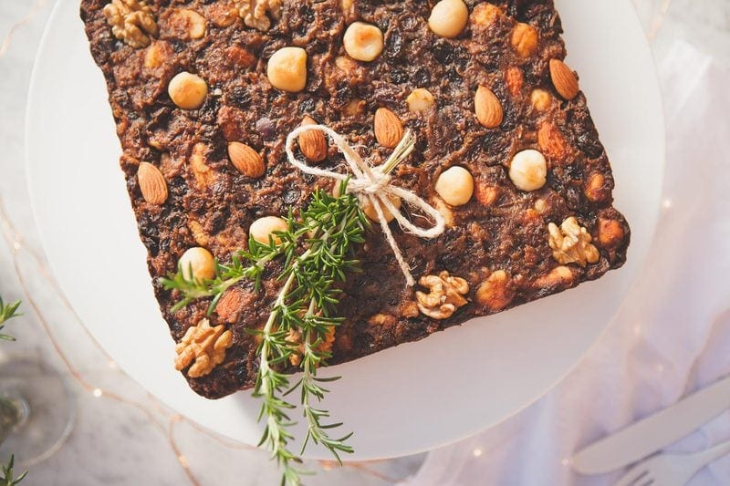 Healthy Gluten Free Christmas Fruit Cake