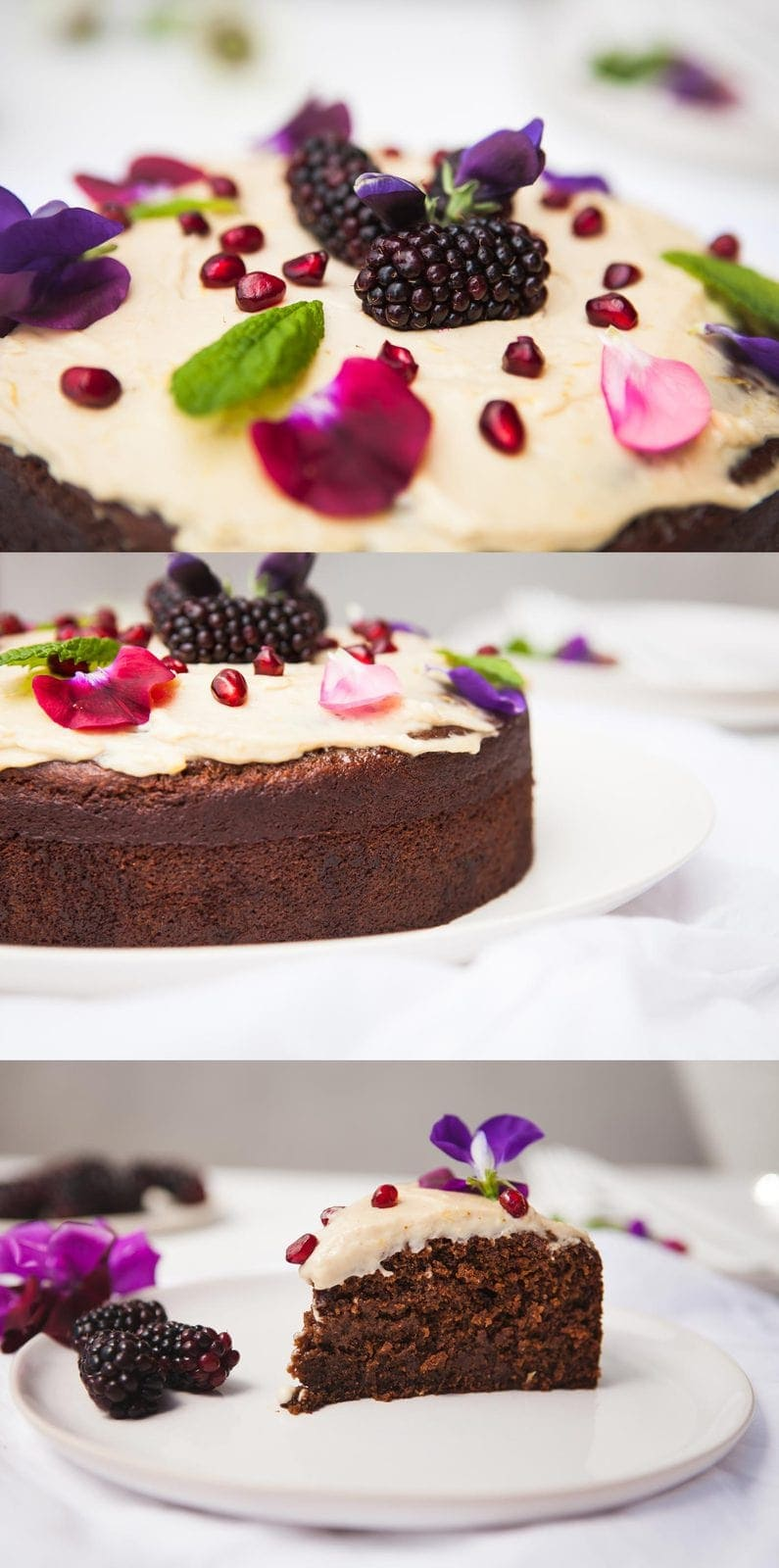 Healthy Vegan Ginger Cake with Lemon Icing