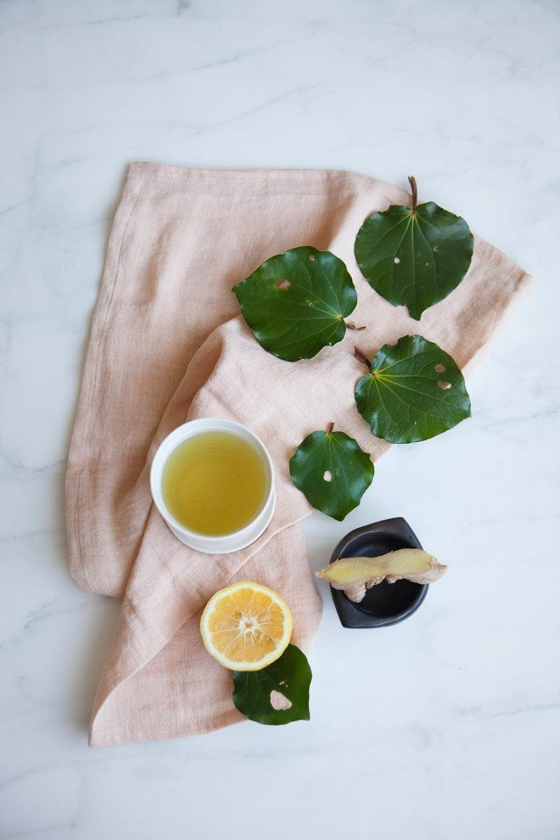 Kawakawa Tea with Ginger and Lemon