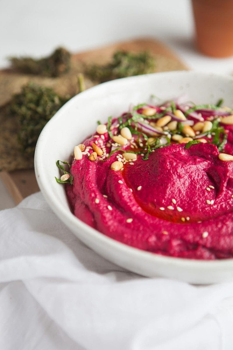 Radical Roasted Beet Hummus with Sumac and Lime
