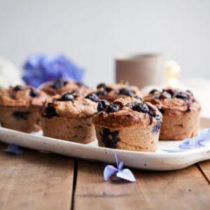 Gluten Free Blueberry Muffins with Teff