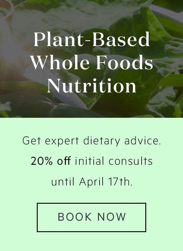 Plant Based Nutrition Consultations