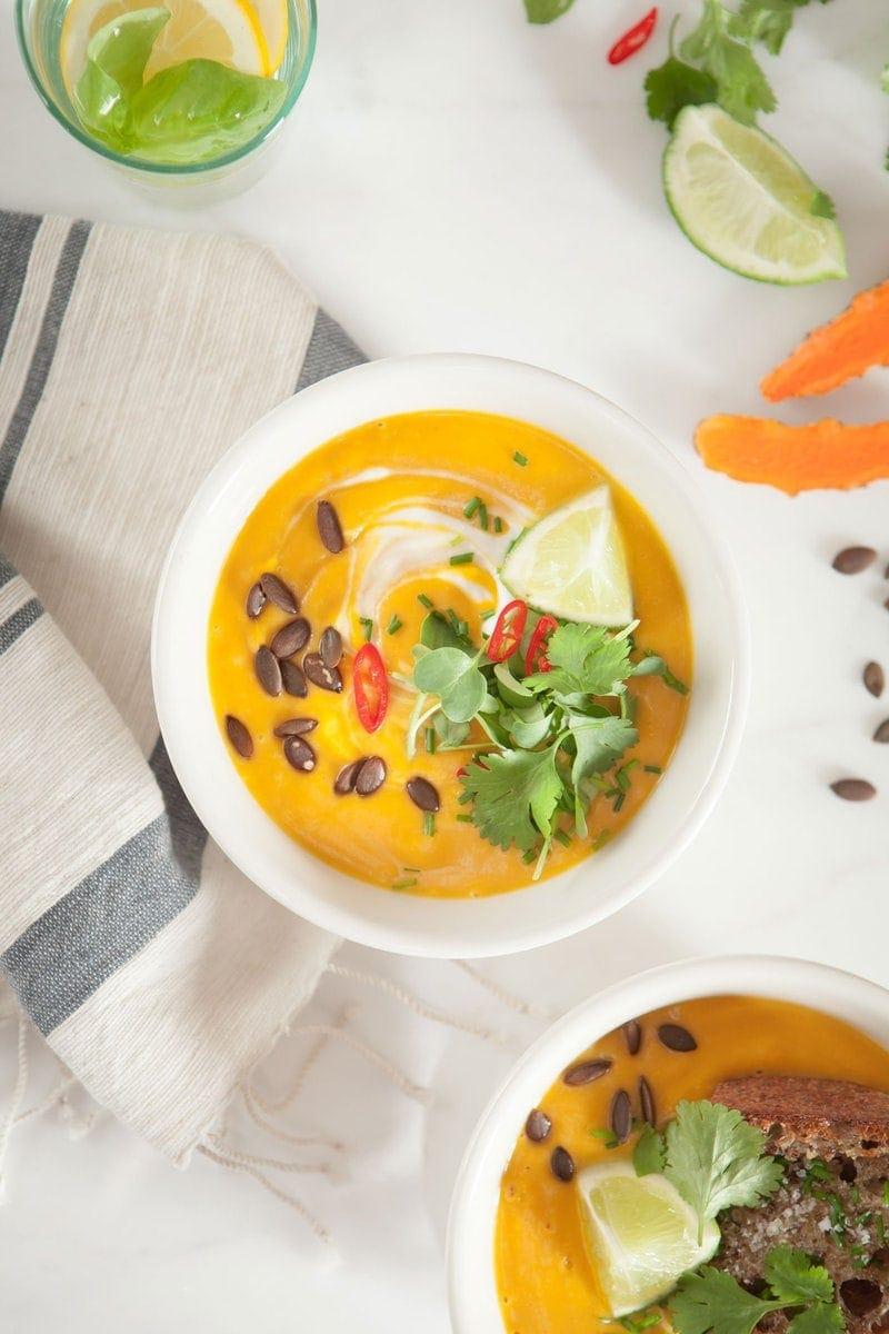 Anti-inflammatory Thai Pumpkin Soup with Turmeric