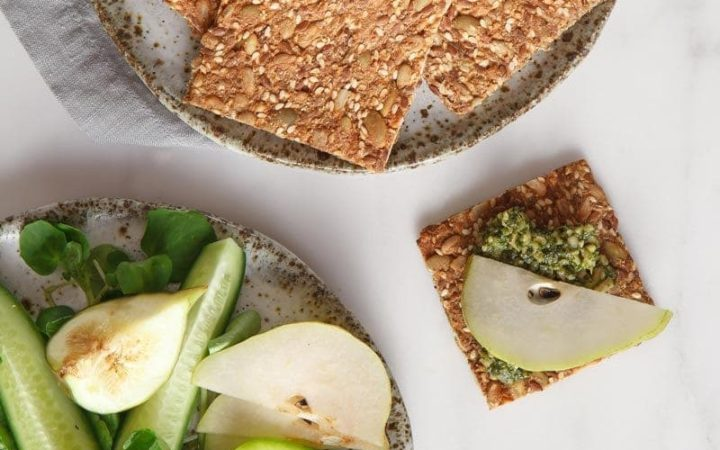 Speedy Super Seed Crackers! A quick and simple gluten free cracker recipe. #seedcrackers #seedcrackerslowcarb #seedcrackersrecipe #seedcrackerspaleo #whole30snack #seedcrackersglutenfree #seedcrackersflax #seedcrackerschia #seedcrackersvegan #seedcrackershomemade #seedcrackerssunflower #AscensionKitchen // Pin to your own inspiration board! //