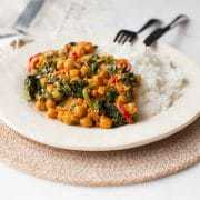 Healthy Chickpea Spinach Curry