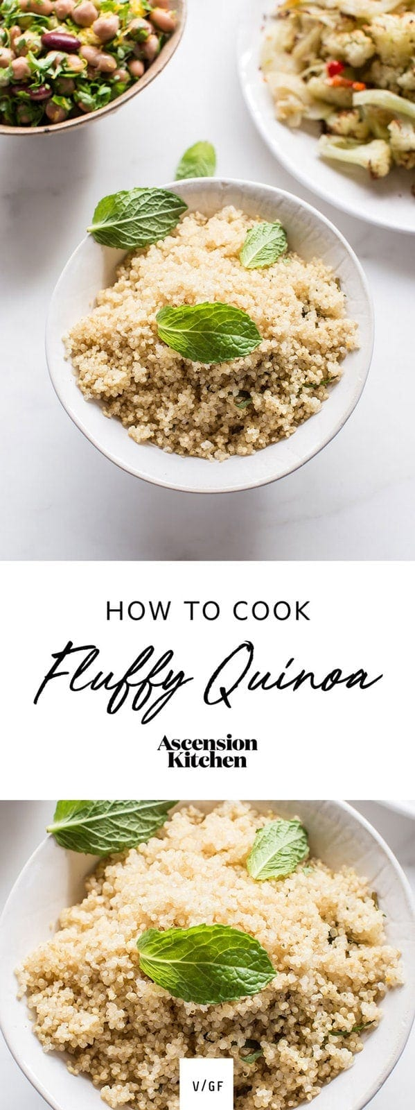 How to cook fluffy quinoa – check out my simple tip! #fluffyquinoahowtomake #fluffyquinoahowtocook #fluffyquinoatips #fluffyquinoarecipe #howtocookfluffyquinoa #whole30recipes #veganrecipes #whole30dinner #AscensionKitchen // Pin to your own inspiration board! //