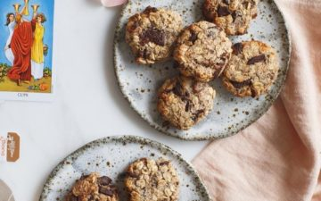 Quick and easy Chocolate Apricot Oat Cookies – a dairy free, vegan recipe that is super kid friendly. #apricotoatcookies #veganoatcookies #oatcookiesvegan #oatcookiesrecipe #oatcookieshealthy #oatcookiessimple #chocolateoatcookies #oatmealcookiesrecipe #AscensionKitchen // Pin to your own inspiration board! //