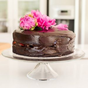 Gluten Free Vegan Chocolate Beet Cake with Avocado Frosting