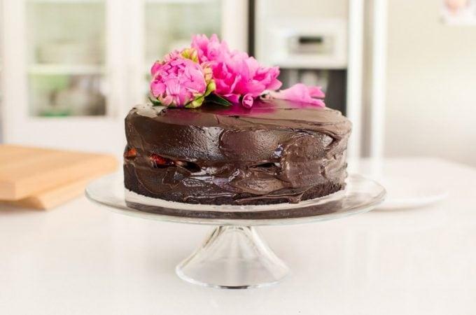 Gluten Free Vegan Chocolate Beet Cake with Avocado Frosting