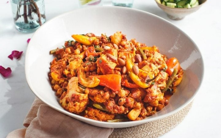 Spiced Chickpea Vegetable Tagine