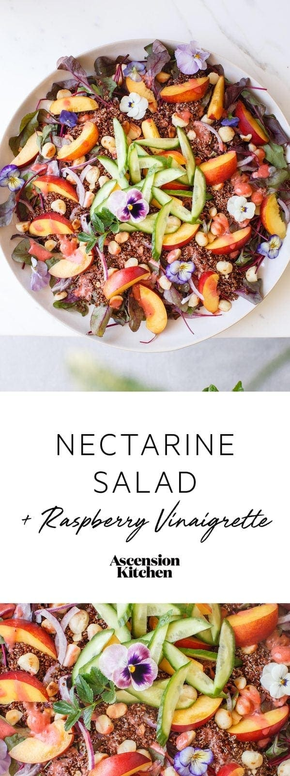 Nectarine Salad with Raspberry Balsamic Vinaigrette - Ascension Kitchen