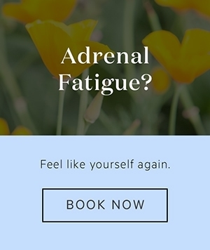 Banner advertising Lauren's services as a Naturopath to support healing from Adrenal Fatigue, click to book