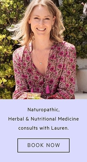 Banner advertising Lauren's services as a New Zealand based Naturopath and Plant Based Nutritionist