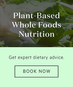 Banner advertising Lauren's services as a Plant-Based Nutritionist, click to book