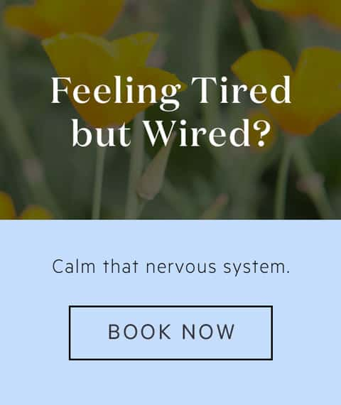 Banner ad for Lauren's services as a Naturopath to assist with adrenal fatigue