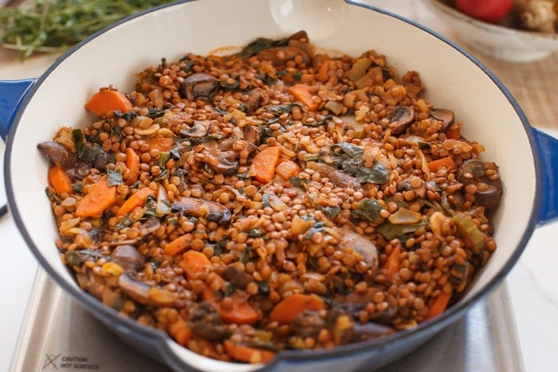 How to make a lentil shepherd's pie step by step: step 2