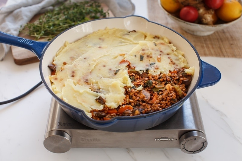 How to make a lentil shepherd's pie step by step: step 3