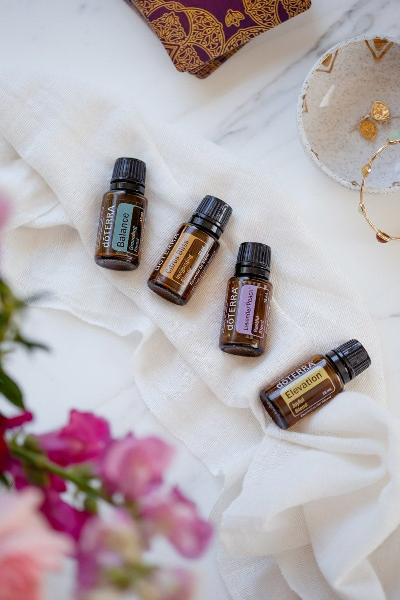 the four essential oil blends in doTERRAs Mood Management Kit