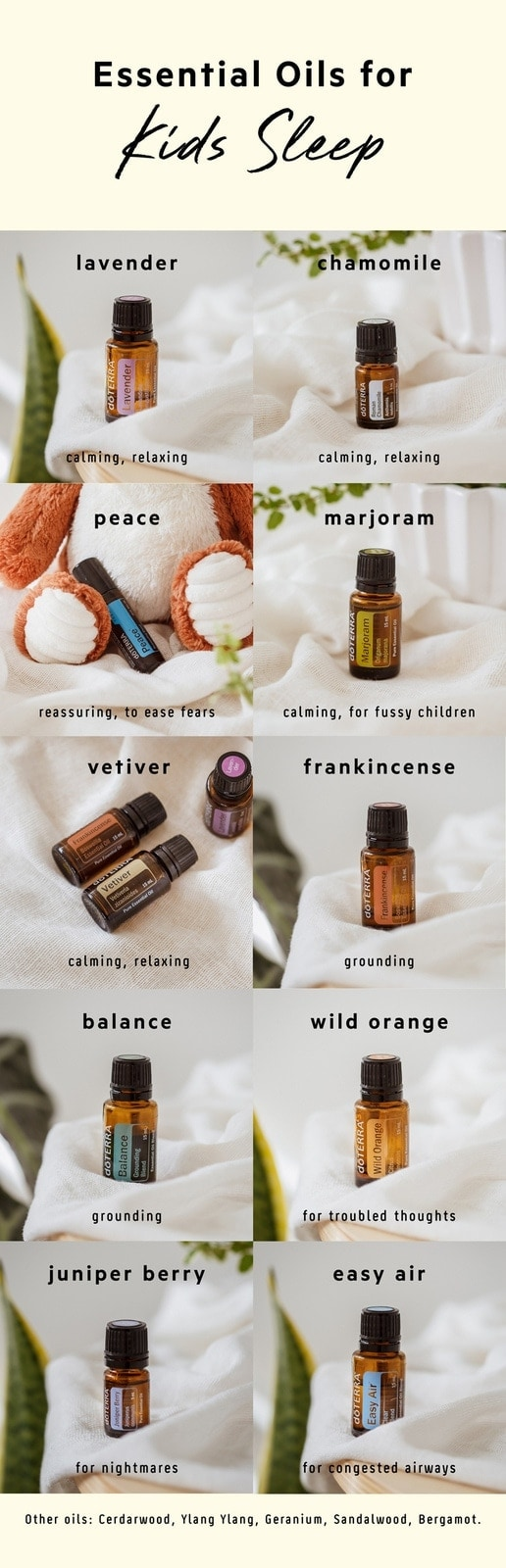 The best essential oils to help support kid's sleep and how to safely use them. #essentialoilsrecipes #essentialoilskids #essentialoilskidssleep #dorerraessentialoils #diffuserblendskids #sleepoilskids #essentialoilschildren #essentialoilssweetdreams #essentialoilssleep #topessentialoilsforkids #AscensionKitchen // Pin to your own inspiration board! //