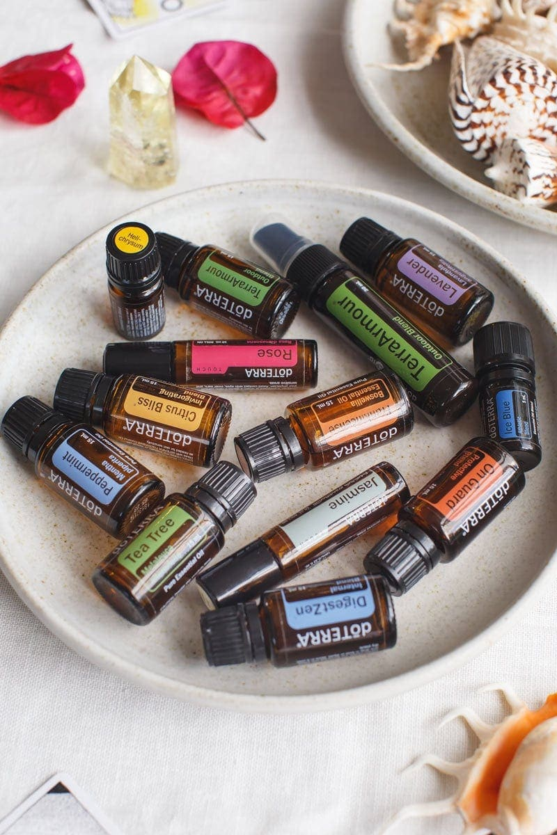 My top summer essential oil picks on a dining table