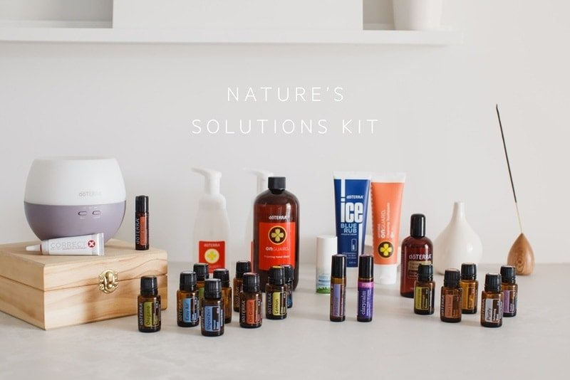 But doTERRA - the Nature's Solutions Kit on display