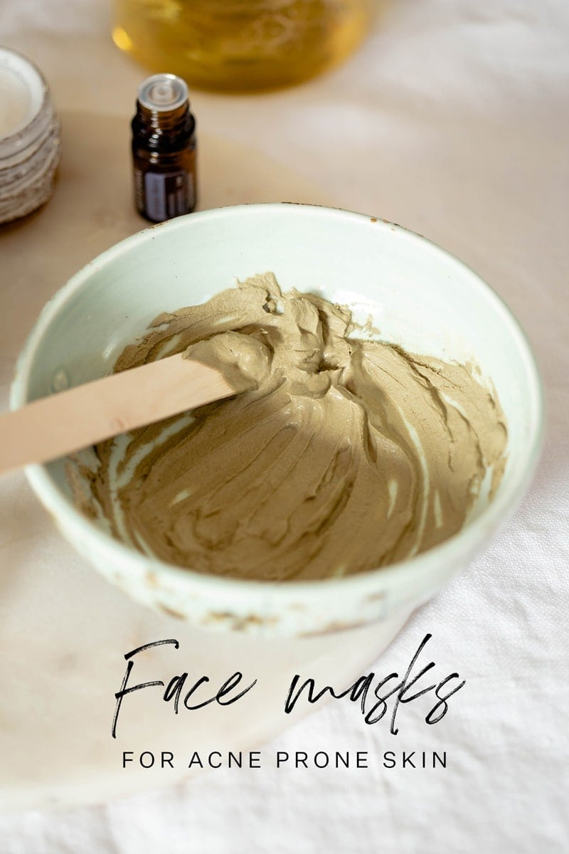 Homemade Face Mask for Acne and Blackheads – just four ingredients, Naturopath formulated. A simple DIY skin care recipe. #DIYskincare #DIYbeauty #Acneremedy #Acnetips #facemask #claymask #DIYfacemask #AscensionKitchen