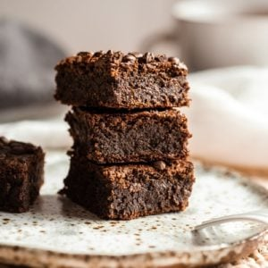 A stack of brownies ready to enjoy